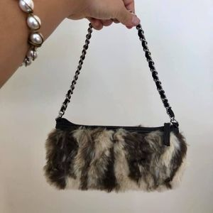 Faux Fur Handbags with Tag On